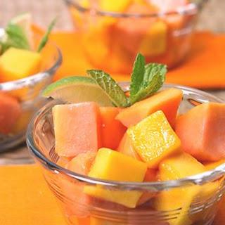 Mango and Papaya Salad.