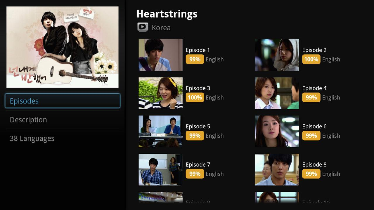 Viki for Google TV - screenshot