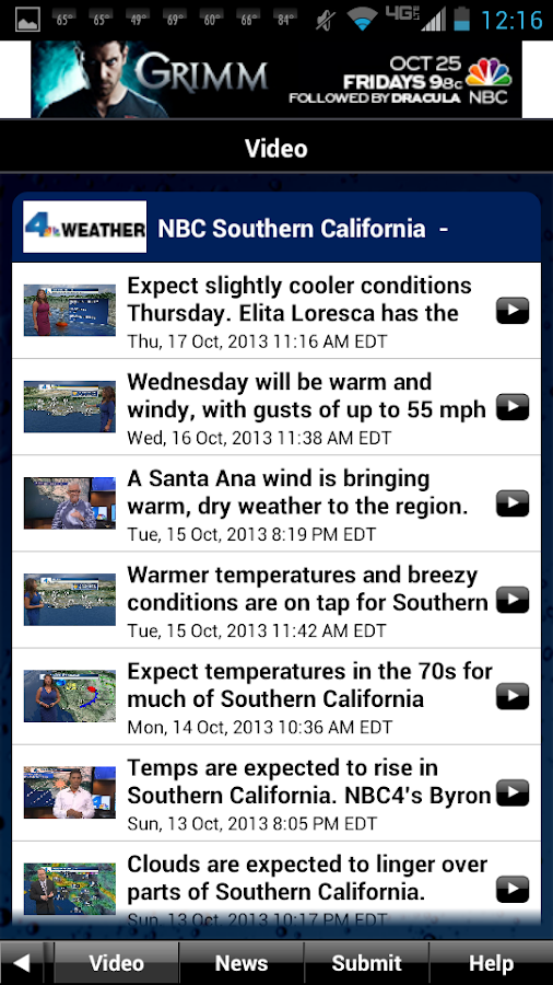 NBC LA Weather - screenshot