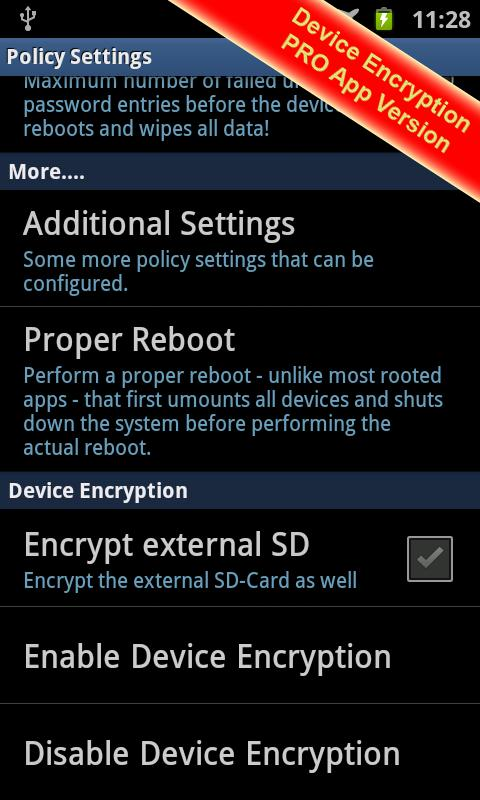 Galaxy Device Encryption FREE - screenshot