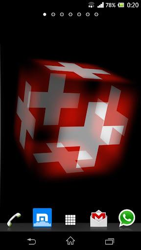 3D Switzerland Cube Flag LWP
