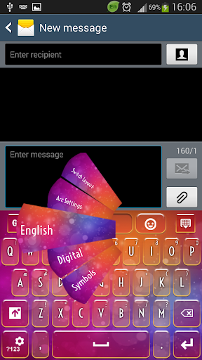 Colored Theme Keyboard