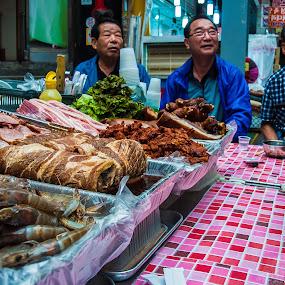 Korean market by Wahan Shahbazian - City,  Street & Park  Markets & Shops ( old men, market, seoul, colorfull, korea,  )