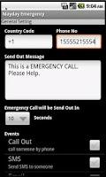 Screenshot of Mayday Emergency Lite