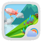 Mount Background GO Weather icon