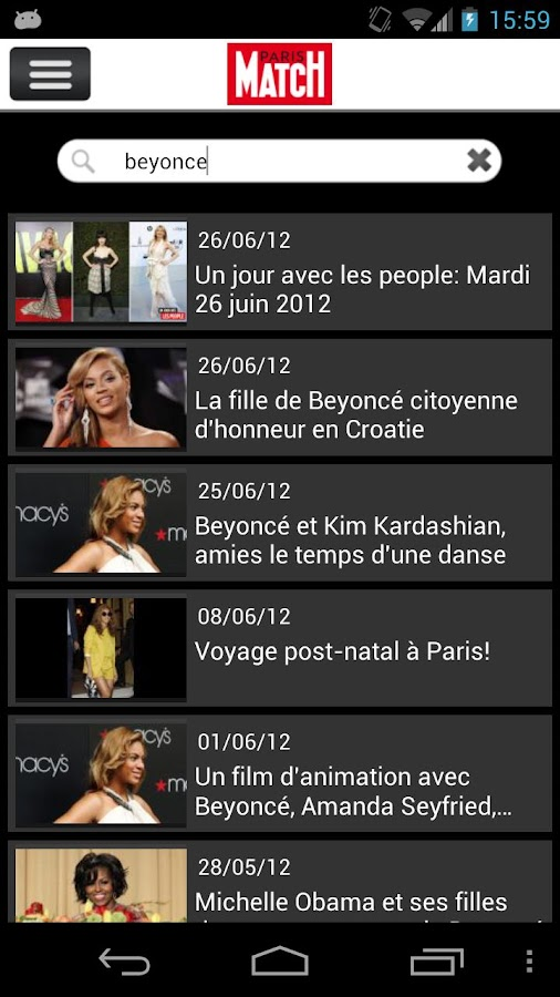 Paris Match Actu - screenshot