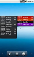 Screenshot of My Class Schedule: Timetable