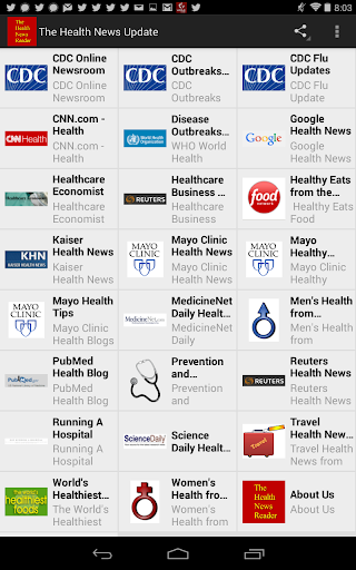 The Health News Reader