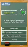 Screenshot of PMP exam game simulator