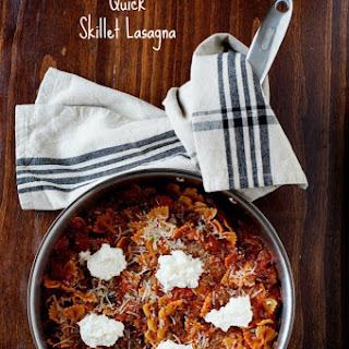 Skillet Lasagna Recipe - Quick Weeknight Meal