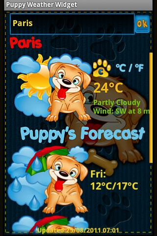 Puppy Weather Widget- screenshot