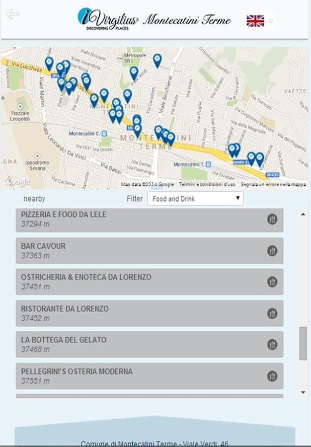 Montecatini Terme mApp - screenshot