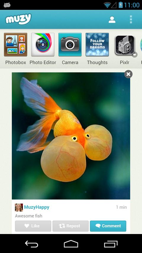 Muzy - Share photos & collages: captura de pantalla
