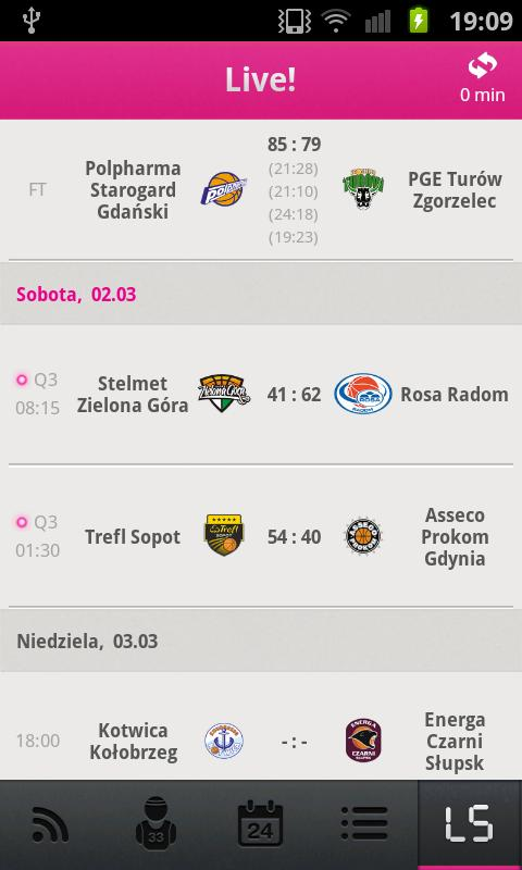 Tauron Basket Liga - screenshot