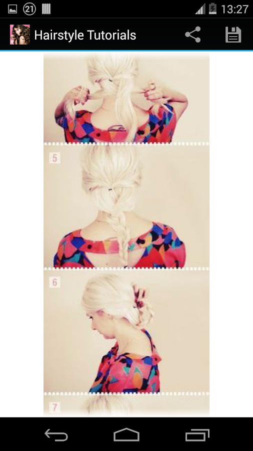 Hairstyles step by step- screenshot