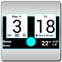Sense Colors Digital Clock icon