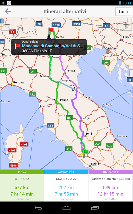 CoPilot Premium Italia GPS App - screenshot