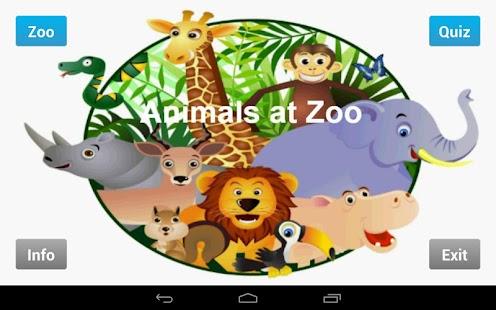 Animals at Zoo- screenshot thumbnail