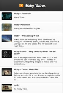 Moby Videos - screenshot thumbnail