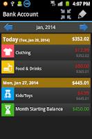 Screenshot of Budget Organizer Free