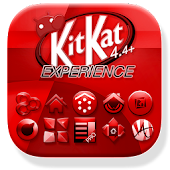 Red KitKat Launcher Theme