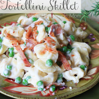 Cheesy Bacon Tortellini Skillet