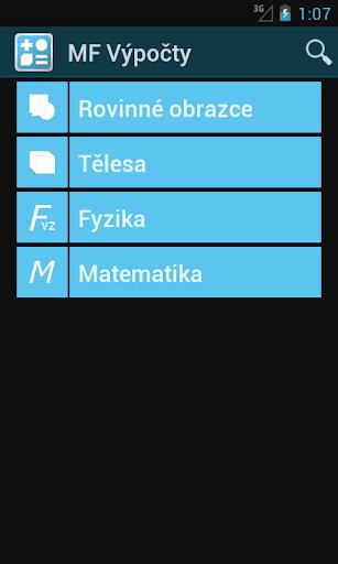 MF Výpočty   pomocník do školních lavic   aplikace