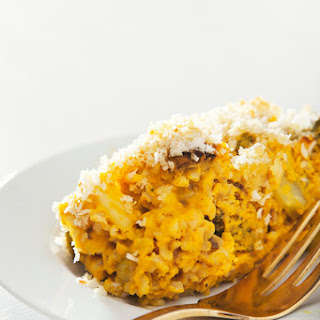 Make-Ahead Broccoli Cheese Rice Casserole (Vegan, Gluten-Free Option)
