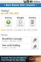 Screenshot of Bare Bones Diet Counter - Lite