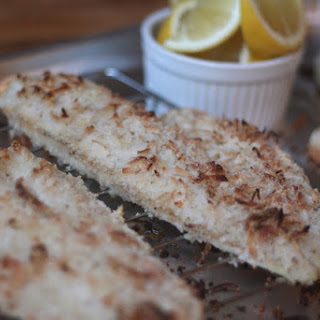 Coconut Almond Crusted Haddock.