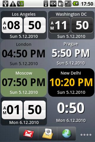 World Clock Widget - screenshot
