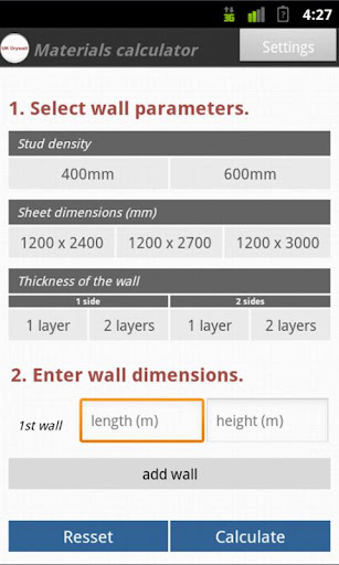 UK Drywall Material Estimator
