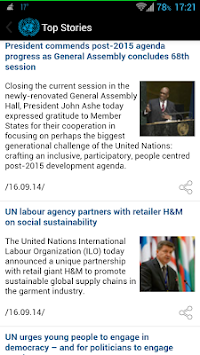 UN News Reader APK screenshot thumbnail 3