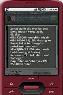 Kalkulator Zakat Pendapatan - screenshot thumbnail
