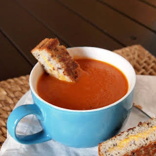 Creamy Gluten Free and Dairy Free Tomato Soup.