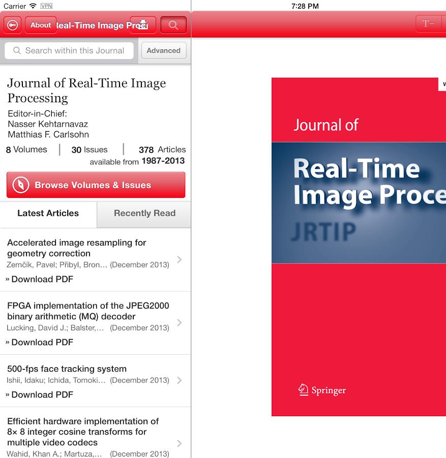 J Real-Time Image Processing - screenshot