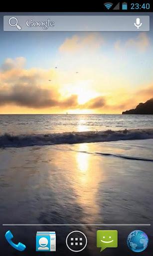 玩免費個人化APP|下載Ocean Waves at Sunset Live HD app不用錢|硬是要APP
