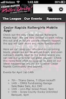 Screenshot of Cedar Rapids Roller Girls CRRG