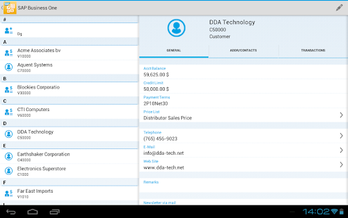 SAP Business One- screenshot thumbnail