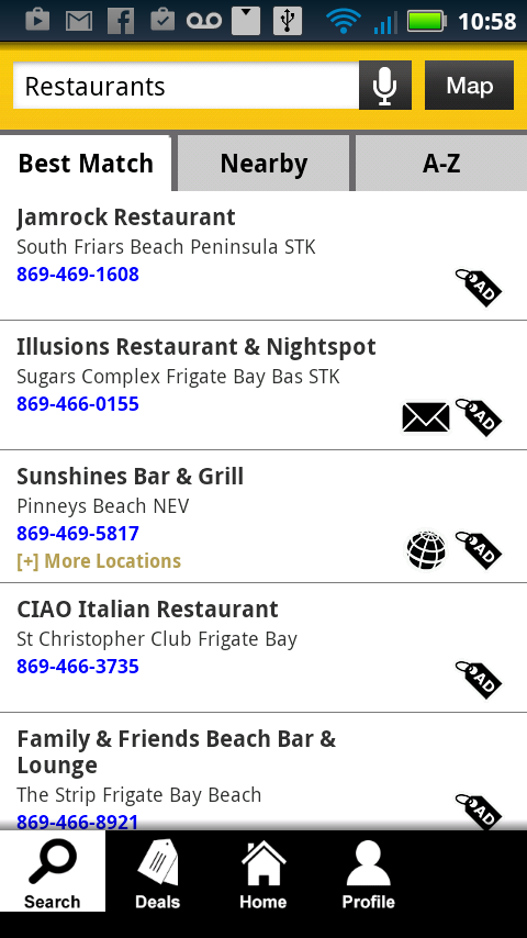 St. Kitts Nevis Yellow Pages - screenshot