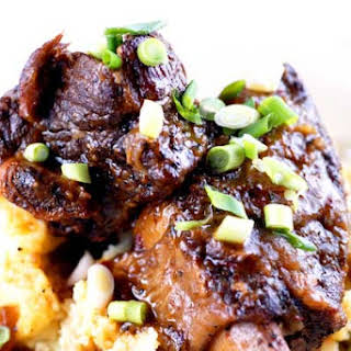 Gluten Free Easy Fall Do-Ahead Dinner for Eight Part 2 Braised Short Ribs with Smashed Potatoes.