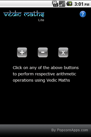 Vedic Maths - screenshot