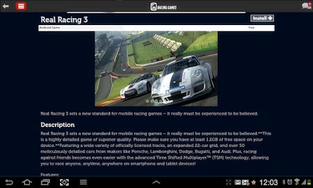 Racing Games Access For Tablet 1.0 screenshot 68221