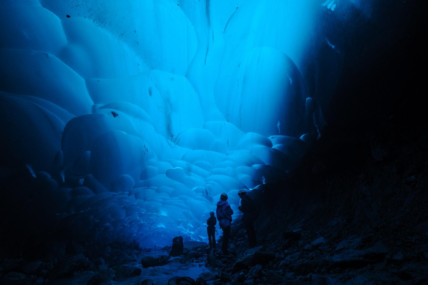 Under the Mendenhall Glacier, Juneau, Alaska