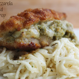 Pesto Mozzarella Stuffed Pork Chops.
