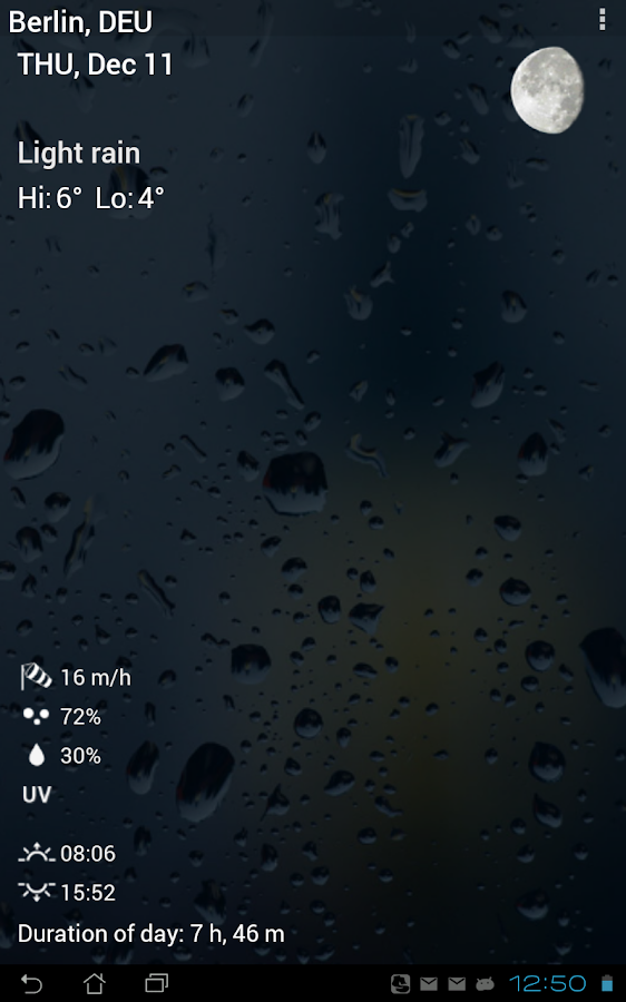 Transparent clock & weather - screenshot
