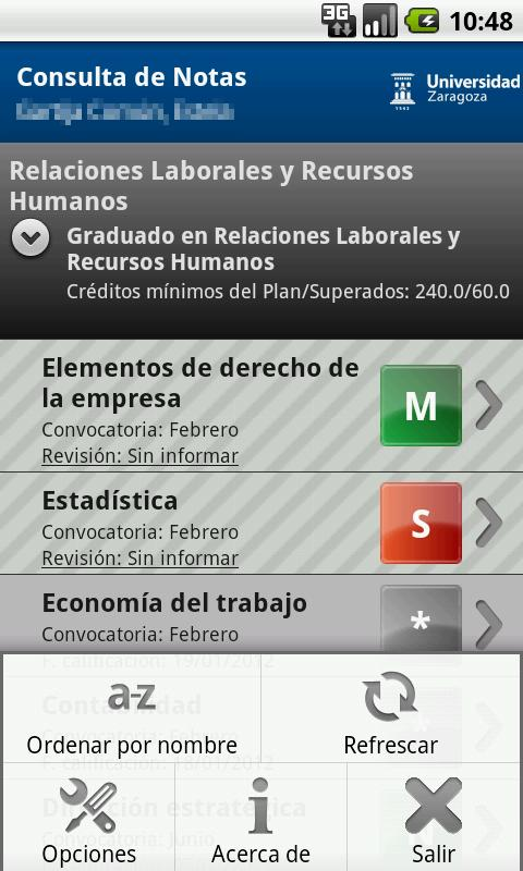 Consulta de Notas - screenshot