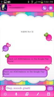 GO SMS THEME|SparklingHearts - screenshot thumbnail