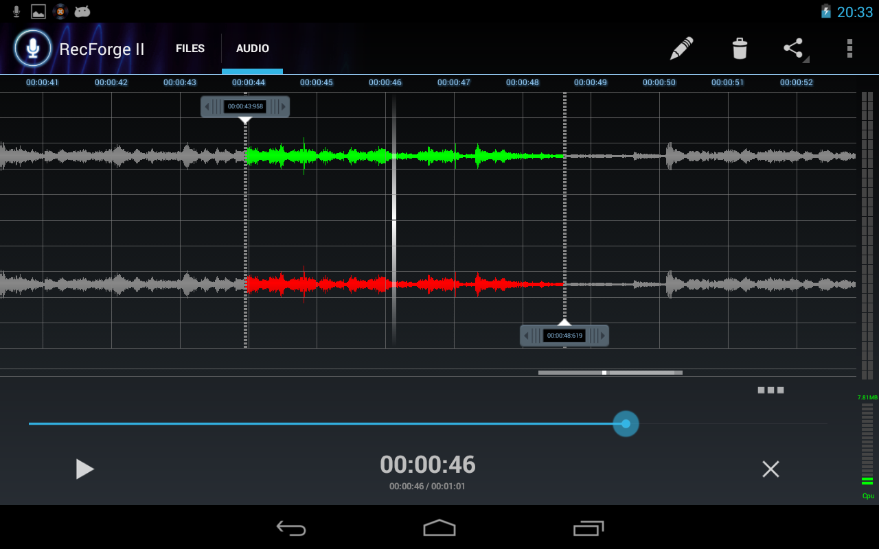 RecForge II - Audio Recorder- screenshot