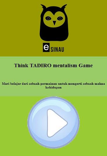 Think TADIRO mentalism game